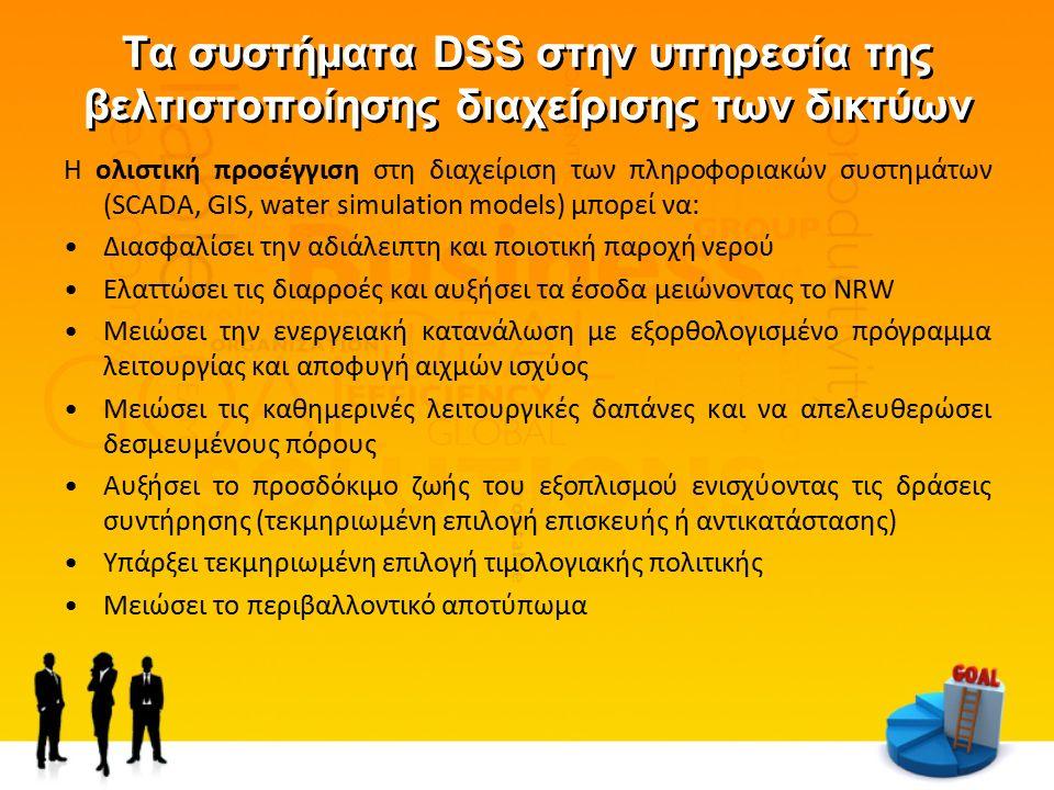 Τα συστήματα DSS στην υπηρεσία της βελτιστοποίησης διαχείρισης των δικτύων Η ολιστική προσέγγιση στη διαχείριση των πληροφοριακών συστημάτων (SCADA, G