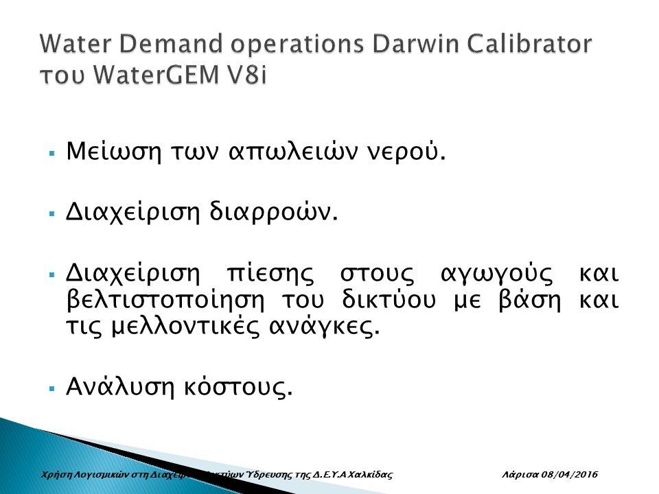  Μείωση των απωλειών νερού.  Διαχείριση διαρροών.