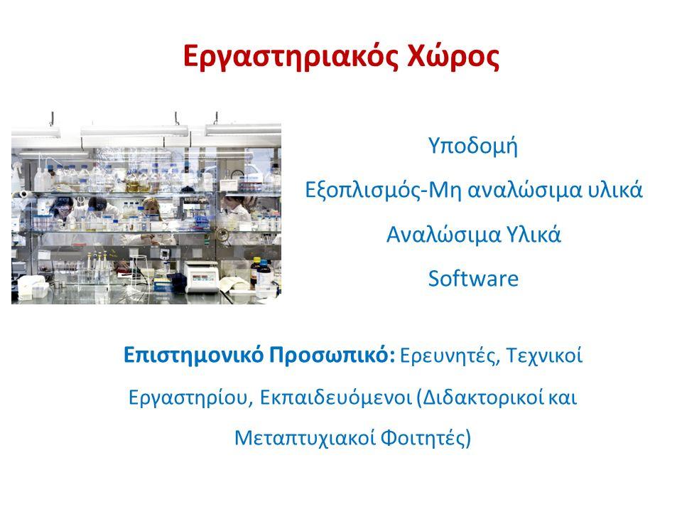 Εργαστηριακός Χώρος Πανεπιστημιακά Εργαστήρια Ερευνητικά Ιδρύματα π.χ.