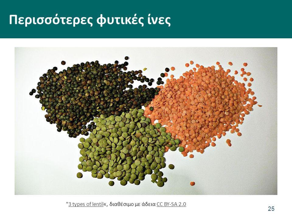 Περισσότερες φυτικές ίνες 25 3 types of lentil«, διαθέσιμο με άδεια CC BY-SA 2.03 types of lentilCC BY-SA 2.0