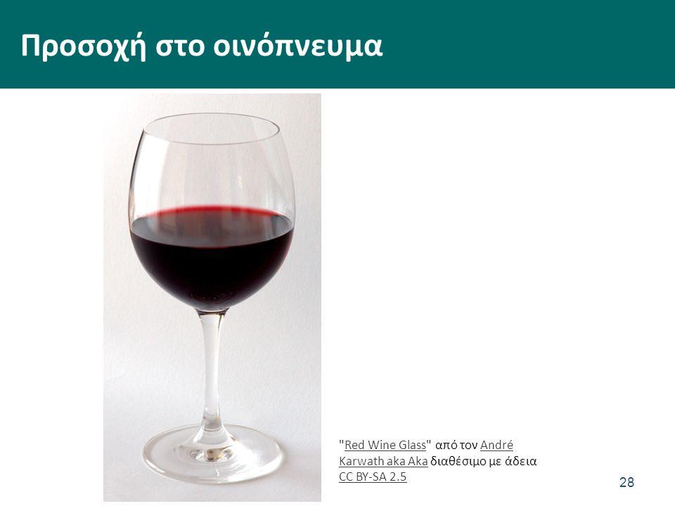 Προσοχή στο οινόπνευμα 28 Red Wine Glass από τον André Karwath aka Aka διαθέσιμο με άδεια CC BY-SA 2.5Red Wine GlassAndré Karwath aka Aka CC BY-SA 2.5
