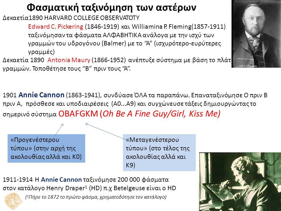 ος των Δεκαετία1890 HARVARD COLLEGE OBSERVATOTY Edward C.