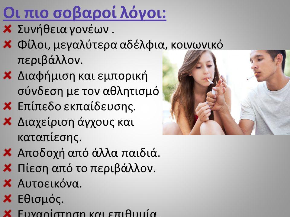 Άλλοι λόγοι για τους οποίους καπνίζουν οι έφηβοι: Πολύ συχνά το κάπνισμα αρχίζει τυχαία.