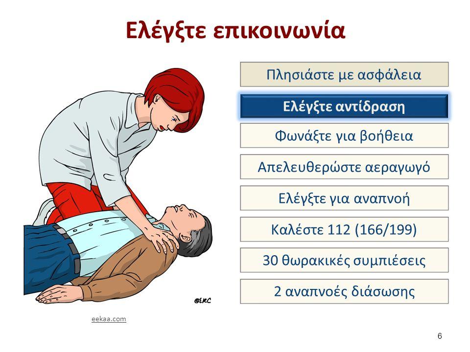 Αν το θύμα αρχίσει να αναπνέει φυσιολογικά: Τοποθέτησέ το σε θέση ανάνηψης 27 eekaa.com
