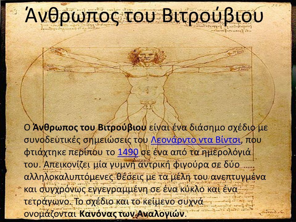 Ο Άνθρωπος του Βιτρούβιου είναι ένα διάσημο σχέδιο με συνοδευτικές σημειώσεις του Λεονάρντο ντα Βίντσι, που φτιάχτηκε περίπου το 1490 σε ένα από τα ημερολόγιά του.