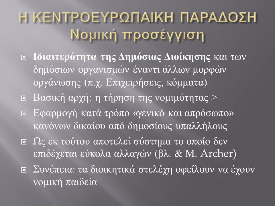  Ιδιαιτερότητα της Δημόσιας Διοίκησης και των δημόσιων οργανισμών έναντι άλλων μορφών οργάνωσης ( π.