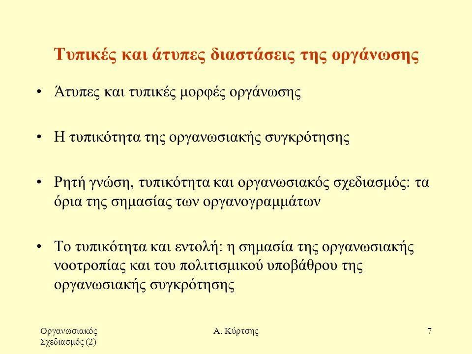 Οργανωσιακός Σχεδιασμός (2) Α.