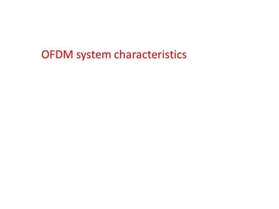 OFDM system characteristics