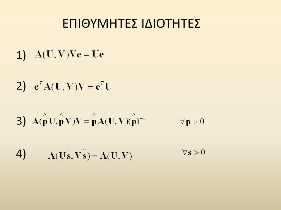 ΕΠΙΘΥΜΗΤΕΣ ΙΔΙΟΤΗΤΕΣ 1) 2) 3) 4)