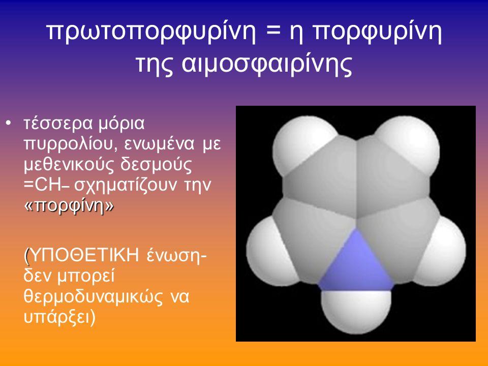 πυρρόλιο ετεροκυκλικός δακτύλιος με ρόλο χρωστικής ή εμπλεκόμενος σε αντιδράσεις ενεργοποιημένων ιόντων