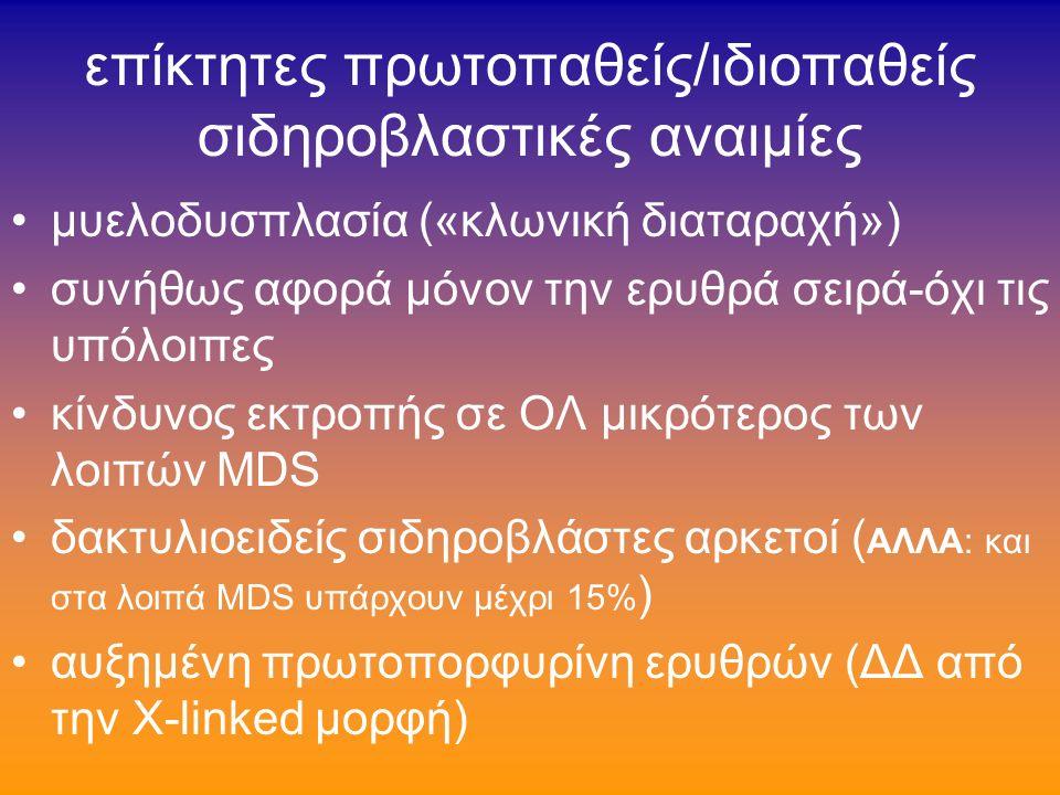 σπανιώτερες κληρονομικές σιδηροβλαστικές αναιμίες (σ.