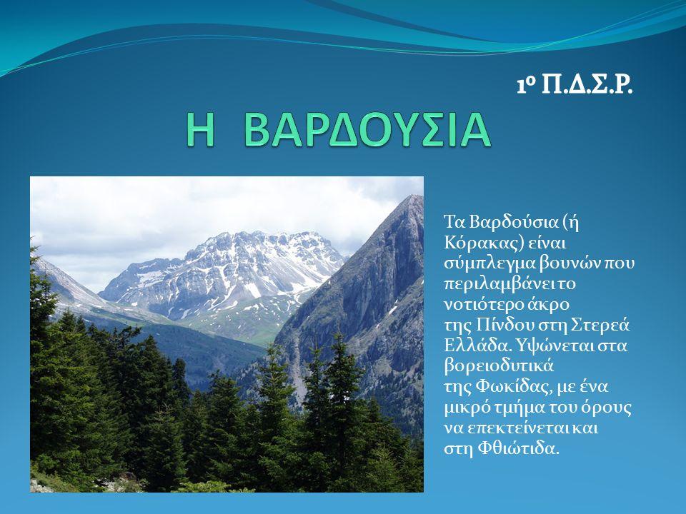 Τα Βαρδούσια (ή Κόρακας) είναι σύμπλεγμα βουνών που περιλαμβάνει το νοτιότερο άκρο της Πίνδου στη Στερεά Ελλάδα. Υψώνεται στα βορειοδυτικά της Φωκίδας