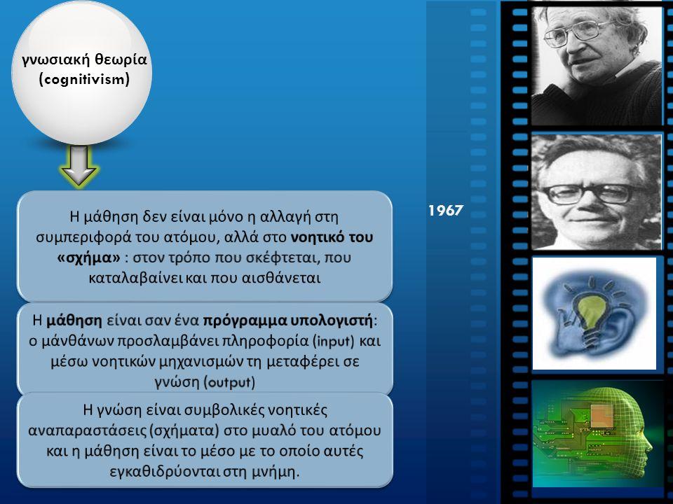 γνωσιακή θεωρία ( cognitivism ) 1967