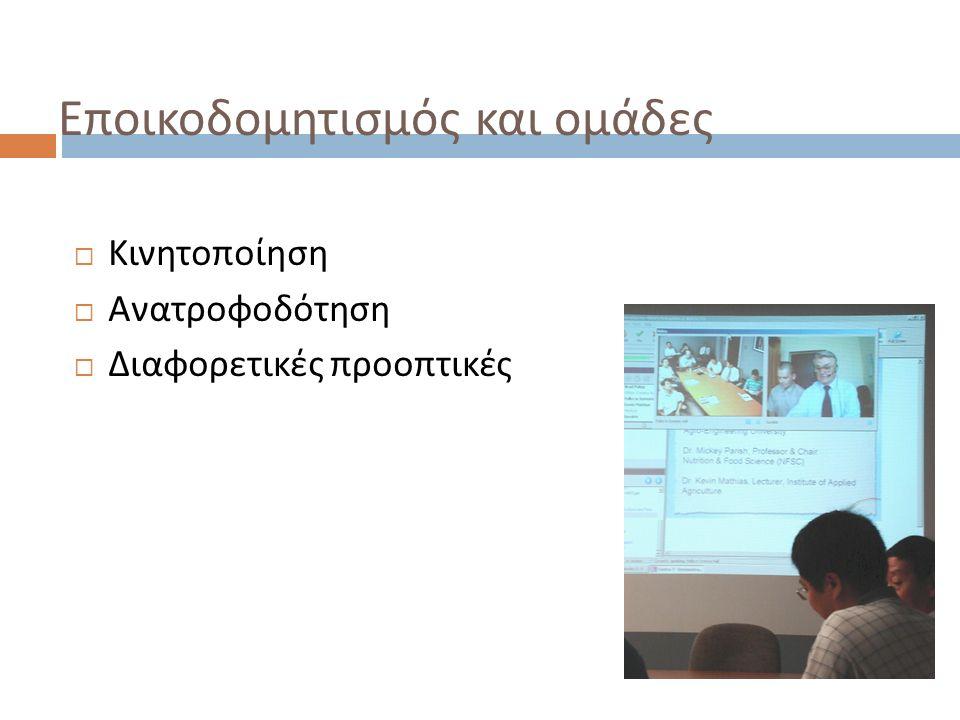 Μοντέλο Dron and Anderson, 2007 Ομάδα Συνειδητή συμμετοχή Ηγεσία και οργάνωση Δομή και ρυθμός Κανόνες Επίπεδα πρόσβασης Εστίαση και συχνά χρονικά περιορισμένη Μικτή ή και διά ζώσης Μεταφορά : Εικονική τάξη 10