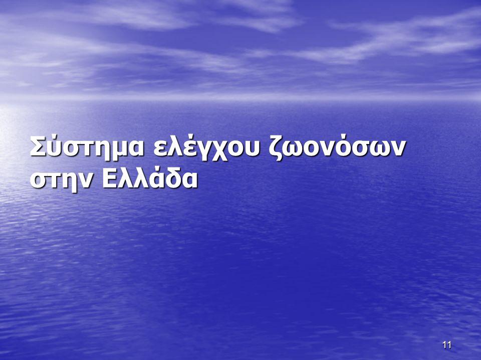 11 Σύστημα ελέγχου ζωονόσων στην Ελλάδα