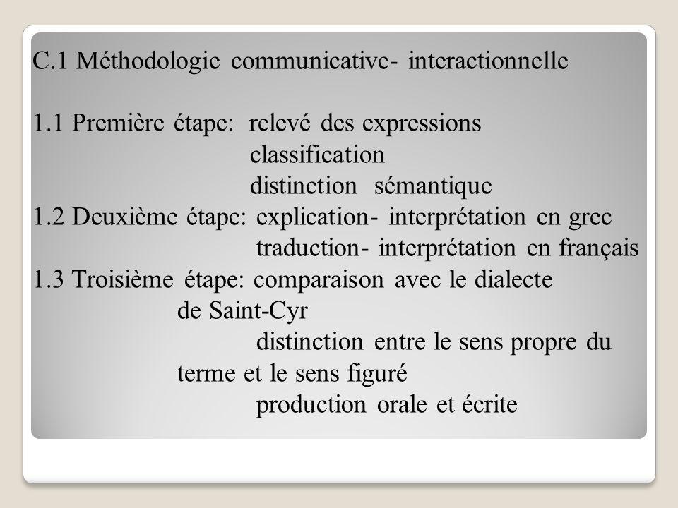 Troisième Partie: L'enseignement du français a) Les objectifs institutionnels b) Les objectifs du cours c) L'approche de la formation