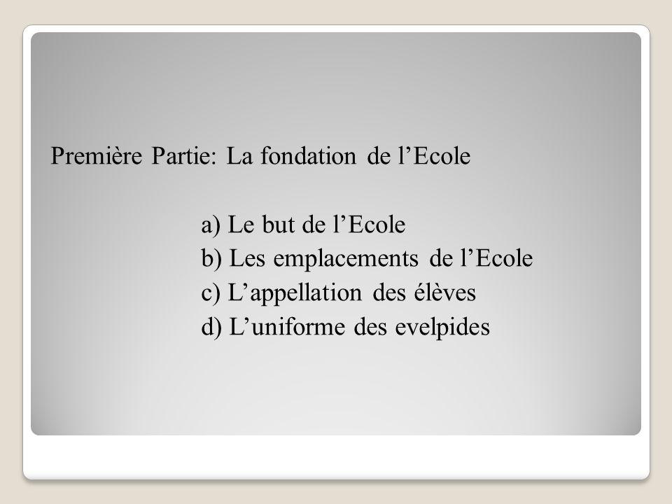 Plan Introduction : La présence des Français et du français à l'Ecole Militaire Première Partie: La fondation de l'Ecole.