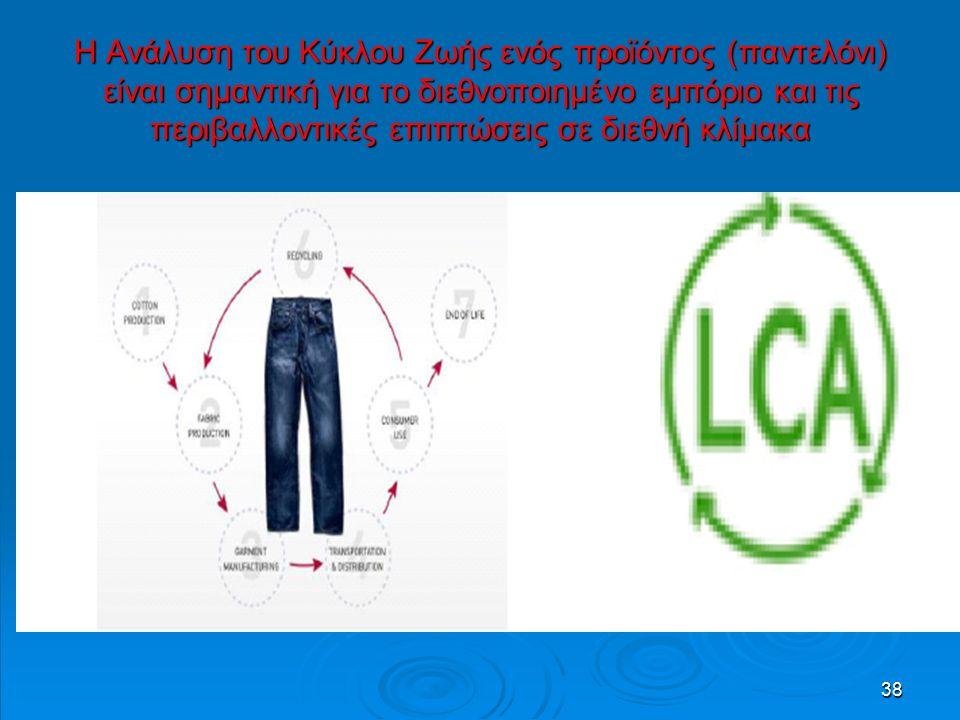 38 Η Ανάλυση του Κύκλου Ζωής ενός προϊόντος (παντελόνι) είναι σημαντική για το διεθνοποιημένο εμπόριο και τις περιβαλλοντικές επιπτώσεις σε διεθνή κλίμακα