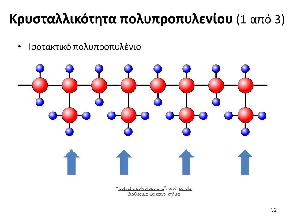 Κρυσταλλικότητα πολυπροπυλενίου (1 από 3) 32 Ισοτακτικό πολυπροπυλένιο Isotactic polypropylene , από Zureks διαθέσιμο ως κοινό κτήμαIsotactic polypropyleneZureks