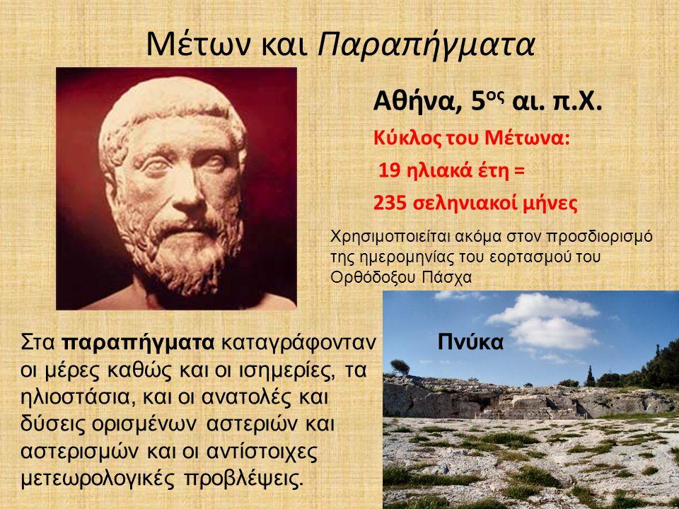 Μέτων και Παραπήγματα Αθήνα, 5 ος αι. π.Χ.