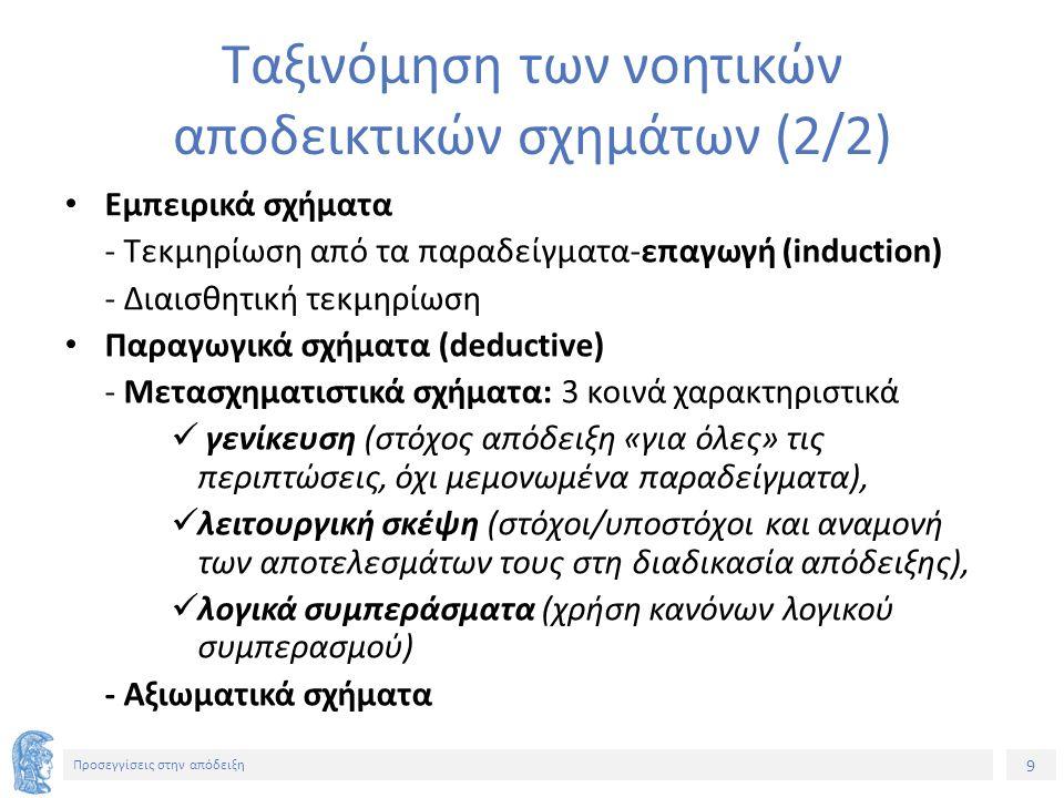 10 Προσεγγίσεις στην απόδειξη Απάντηση μαθητή (1)