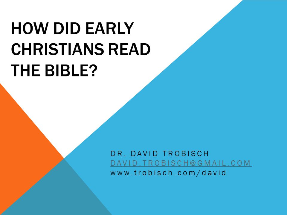 1 TIMOTHY 4:13 (NRSV) Until I arrive, give attention to the public reading of scripture, to exhorting, to teaching.