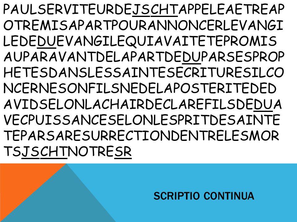 SCRIPTIO CONTINUA PAULSERVITEURDEJS.