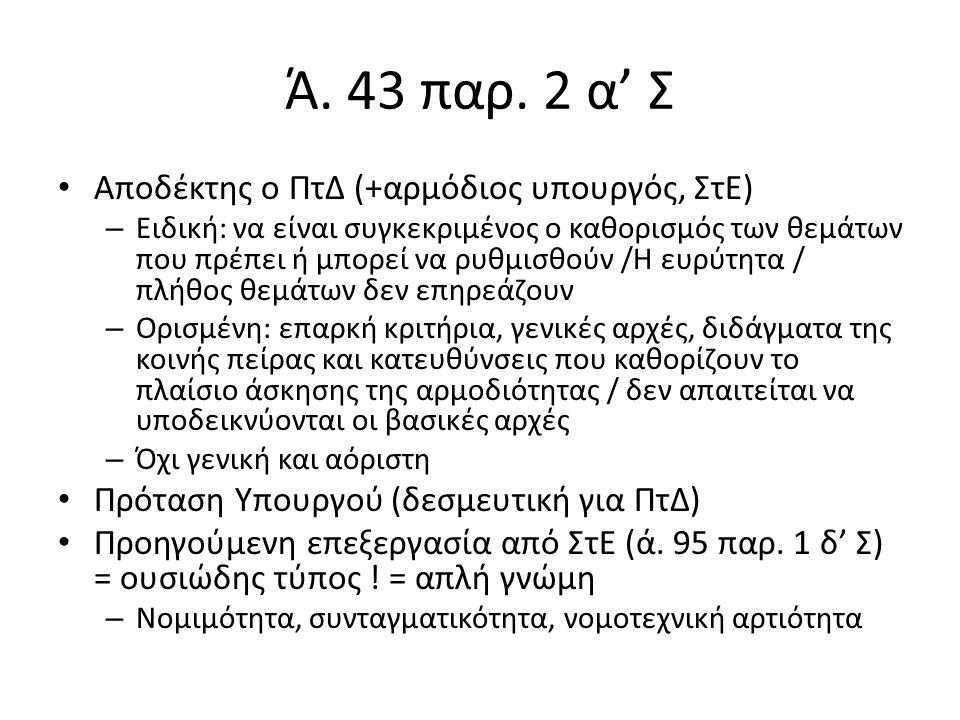 Ά. 43 παρ.