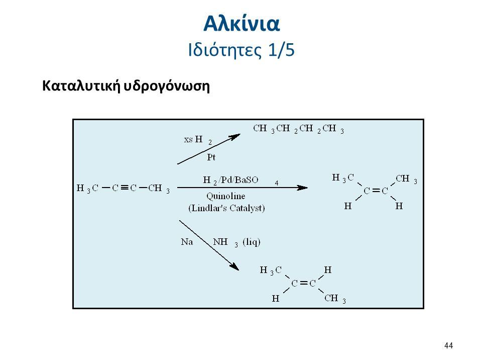 Καταλυτική υδρογόνωση Αλκίνια Ιδιότητες 1/5 44
