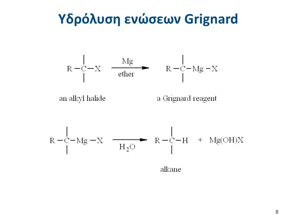 8 Υδρόλυση ενώσεων Grignard