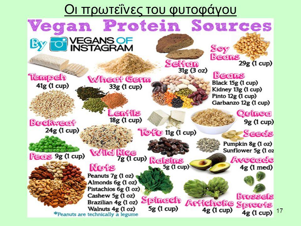 17 Οι πρωτεΐνες του φυτοφάγου