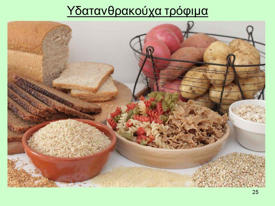 25 Υδατανθρακούχα τρόφιμα