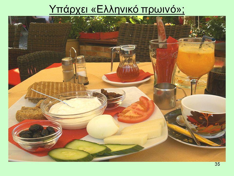 35 Υπάρχει «Ελληνικό πρωινό»;
