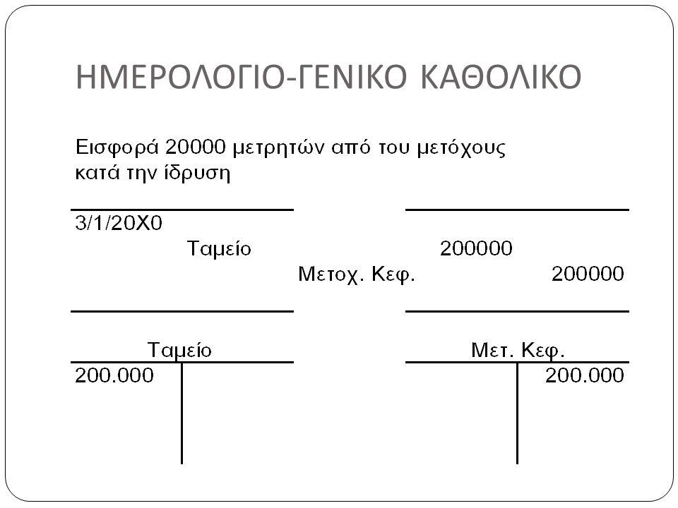 ΗΜΕΡΟΛΟΓΙΟ - ΓΕΝΙΚΟ ΚΑΘΟΛΙΚΟ