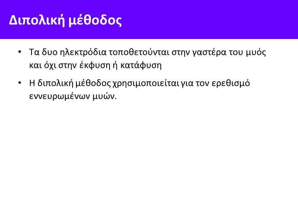 Ηλεκτρο-μυογραφική δραστηριότητα Η καταγραφή της ηλεκτρικής δραστηριότητας που σχετίζεται με τους μυς http://panacea.med.uoa.gr/topic.aspx?id=889