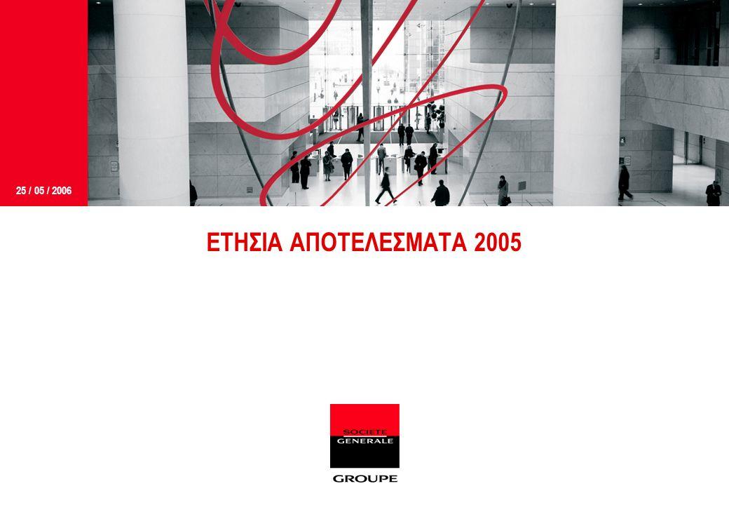 25 / 05 / 2006 ΕΤΗΣΙΑ ΑΠΟΤΕΛΕΣΜΑΤΑ 2005
