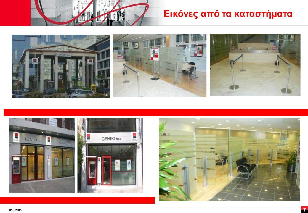 05/06/06 8 Νέα προϊόντα: μεταφορά Τεχνογνωσίας από τον όμιλο Προσφερόμενες τραπεζικές υπηρεσίες  Πακέτα (Concerto)  Λογαριασμοί Υπερανάληψης (Γενική Ανοιχτός Λογαριασμός)  Προσφορές σε φοιτητές (Γενική Νέων) Προϊόντα Χορηγήσεων  Δάνεια με προστασία επιτοκίου (Γενική Σπίτι Ασφαλώς, Γενική Επιχειρείν Ασφαλώς) Αποταμιευτικά προϊόντα  Αμοιβαία κεφάλαια (Société Générale Διαχείριση ενεργητικού, Alpha Trust)  Fund of funds (SGAM Selection, Agileo)  Προϊόντα Δομημένης Χρηματοδότησης  Τραπεζοασφαλιστικά προϊόντα (Άνετα, Στήριξη)