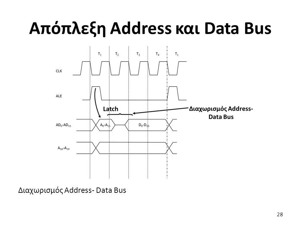 Διαχωρισμός Address- Data Bus Απόπλεξη Address και Data Bus 28