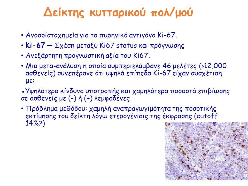 Δείκτης κυτταρικού πολ/μού Ανοσοϊστοχημεία για το πυρηνικό αντιγόνο Ki-67.