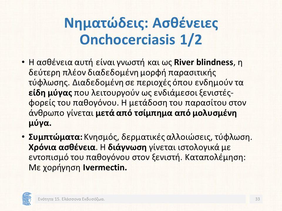 Νηματώδεις: Ασθένειες Onchocerciasis 1/2 Ενότητα 15.