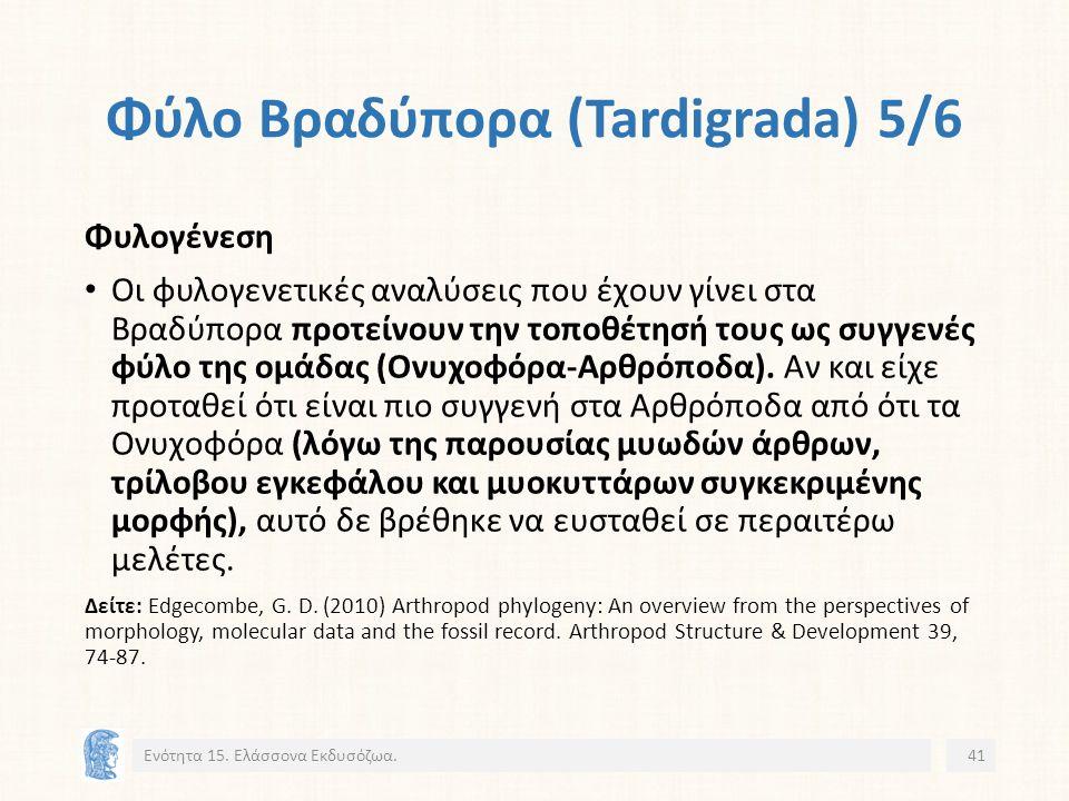 Φύλο Βραδύπορα (Tardigrada) 5/6 Ενότητα 15.