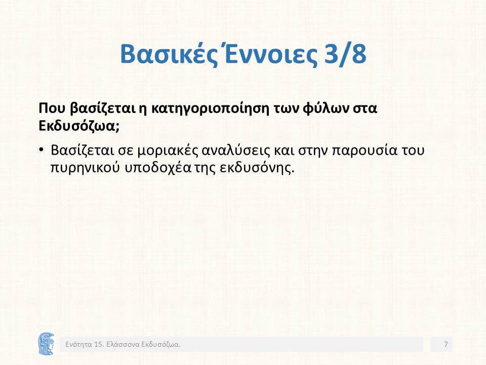 Φύλο Βραδύπορα (Tardigrada) 2/6 Ενότητα 15. Ελάσσονα Εκδυσόζωα.38 21 23 22