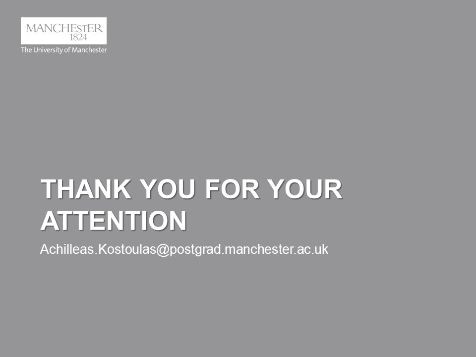THANK YOU FOR YOUR ATTENTION Achilleas.Kostoulas@postgrad.manchester.ac.uk