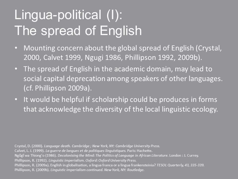 Standardised bilingual data Removes language infelicities that might detract attention from the participants' view.