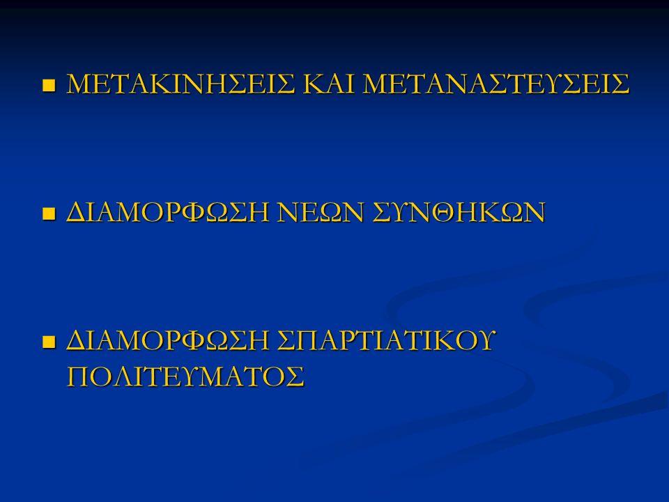 1125>Πρώτες μετακινήσεις και στο σημείο αυτό τοποθετείται το τέλος του Μυκηναϊκού πολιτισμού.