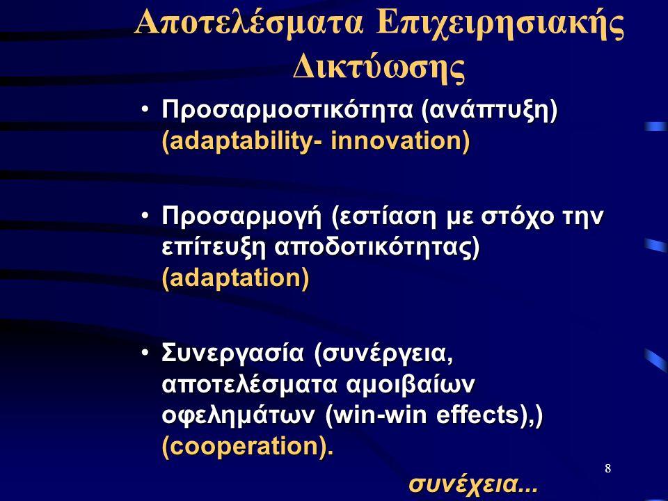 8 Προσαρμοστικότητα (ανάπτυξη) (adaptability- innovation)Προσαρμοστικότητα (ανάπτυξη) (adaptability- innovation) Προσαρμογή (εστίαση με στόχο την επίτ