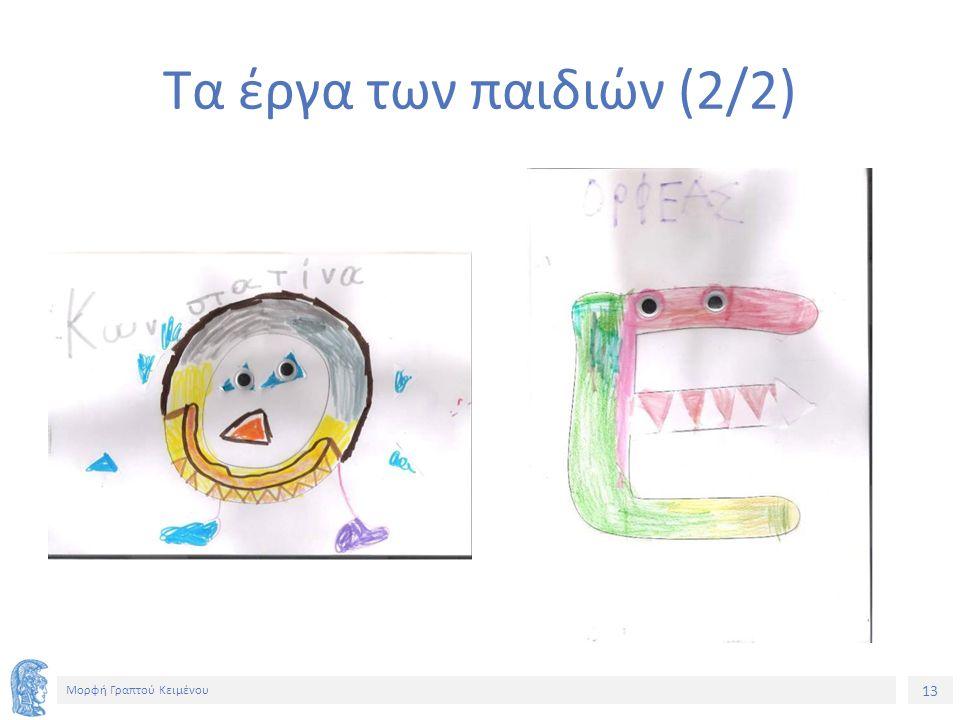 13 Μορφή Γραπτού Κειμένου Τα έργα των παιδιών (2/2)