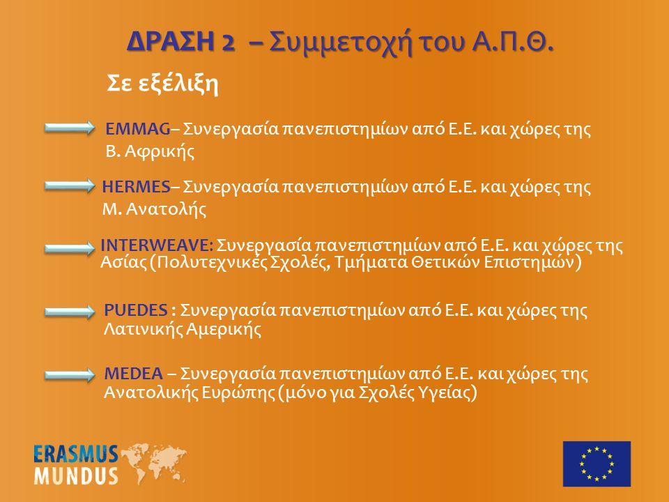 ΔΡΑΣΗ 2 – Συμμετοχή του Α.Π.Θ. EMMAG– Συνεργασία πανεπιστημίων από Ε.Ε.