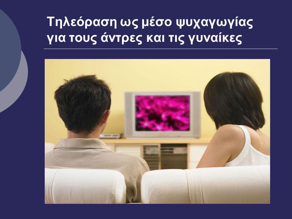 Τηλεόραση ως μέσο ψυχαγωγίας για τους άντρες και τις γυναίκες