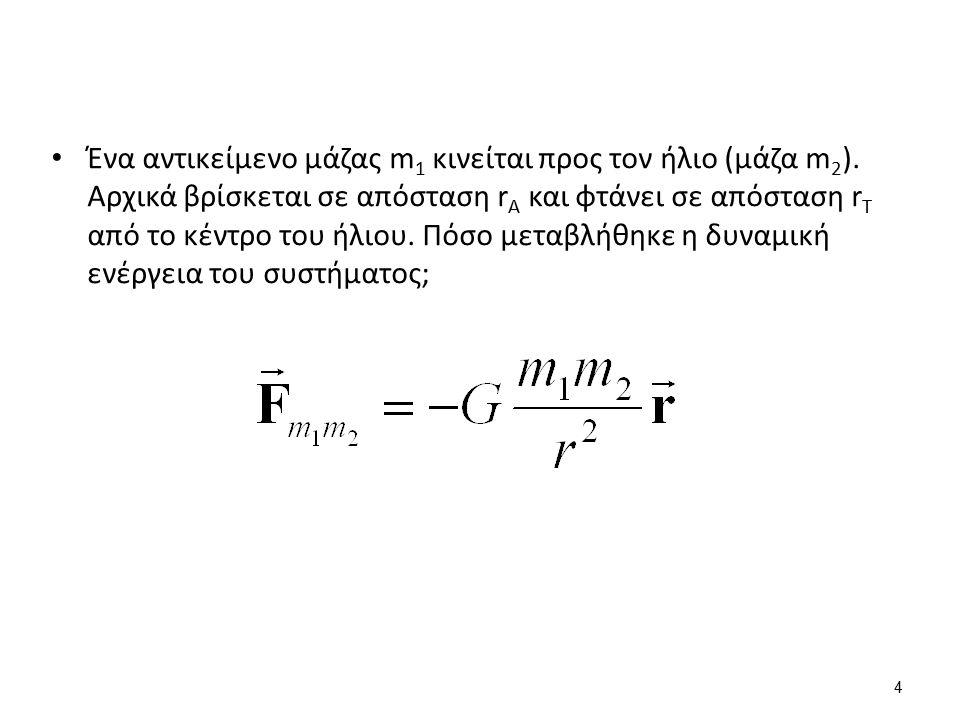 Ελατήριο Για μικρή επιμήκυνση χ πέραν του φυσικού μήκους του ελατηρίου F=kx k: σταθερά ελατηρίου (N/m) E=(1/2)kx 2 5